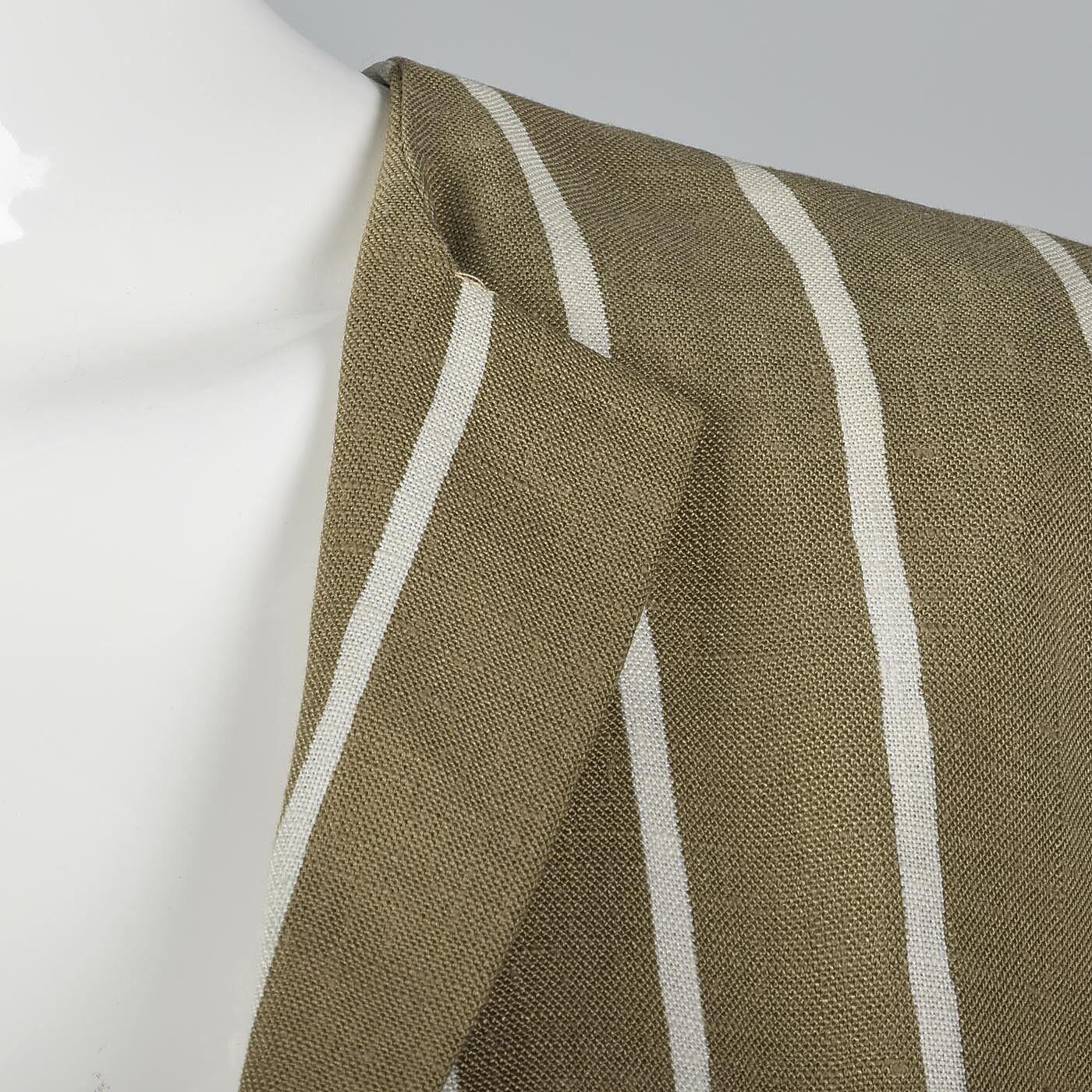 L Vintage 1980s 80s Pauline Trigere Striped Skirt… - image 9