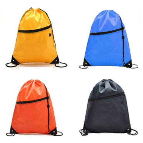 Drawstring Bag Sport Swim Gym PE School Dance Shoes Backpack Outdoor Hiking Bags