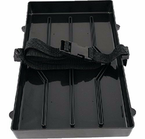 Boat Marine RV Auto Trailer Battery Tray W// Strap For Group 29//31 Batteries