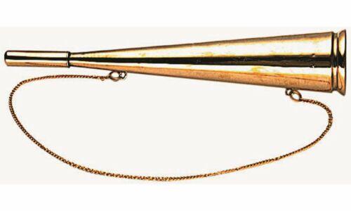 AWN Maritim Nebelhorn Signalhorn Messing Fanfare Boot Bootshorn Schiffshorn