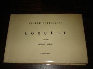LOQUELE-Claude-Kottelanne-envoi-1975-Gravure-de-Georges-Rubel-Ex-Num