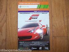 Forza Motorsport 4 DLC Code Xbox 360 Bonus Track & Car Pack - TRUSTED SELLER!