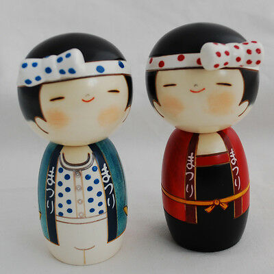 Japanese Kokeshi Doll - Authentic - Handmade in Japan - Lucky Boy - Lucky Girl