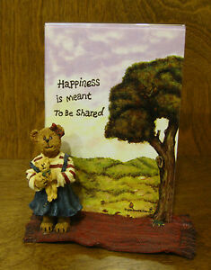 Boyds-Frames-27324-Megan-McBruin-amp-Friend-Bear-Hugs-1st-Ed-From-Retail-Store