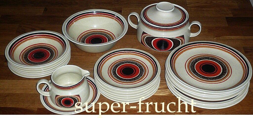 22 Tlg Speiseservice für 6 Personen Winterling  RÖSLAU Fein-keramik Vintage