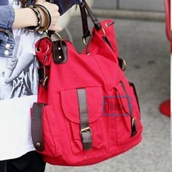 Big Size Canvas Women Purse Handbag Messenger Satchel Shoulder Bag