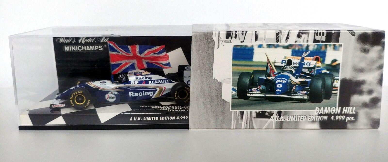 1 43 Damon HILL WILLIAMS RENAULT FW16 1994 British Grand Prix Winner MINICHAMPS