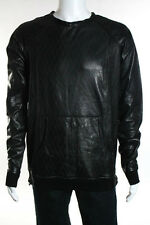 En Noir Men's Black Laser Cut Crew Shirt Size Extra Extra Large New $1450 085278