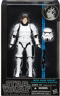"Star Wars Authentic Black Series 6/"" #09 Han Solo Stormtrooper Loose complet"