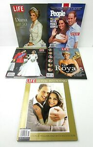 The-Royals-Diana-Will-amp-Kate-Wedding-Lot-of-5-Time-Life-Specials-People