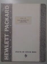 Hewlett Packard HP Model 325B Noise Distortion Analyzer Instruction Manual