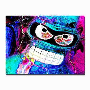 futurama funny cartoon movie canvas posters art prints decor 8x11