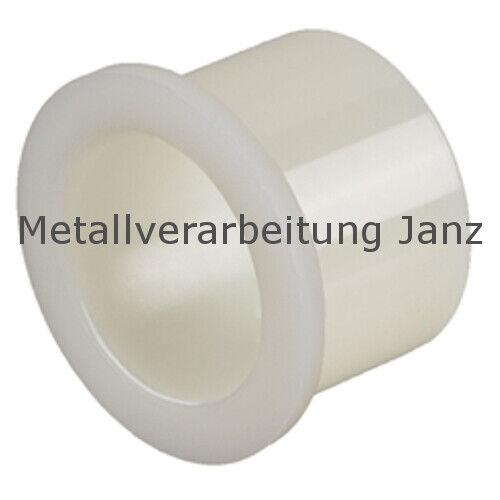 Bohrbuchse mit Bund aus Polyamid Durchmesser 20//25//30 x 15 mm für 20 mm Welle