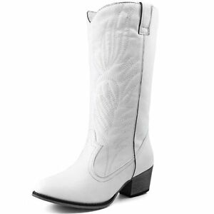 s white knee high cowboy boots western