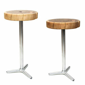 hocker sitz beistelltisch stuhl holz metall stahl akazienholz massiv nachttisch ebay. Black Bedroom Furniture Sets. Home Design Ideas