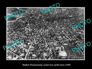 OLD-LARGE-HISTORIC-PHOTO-OF-DUBOIS-PENNSYLVANIA-AERIAL-VIEW-OF-TOWN-c1940-1