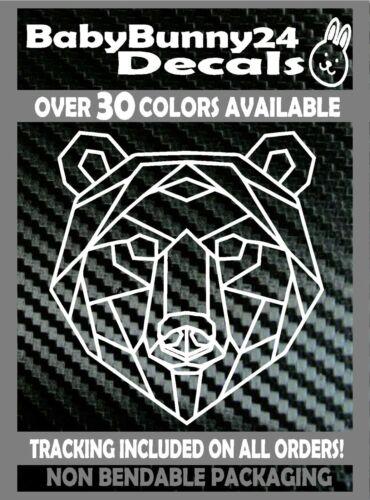 Geometric Bear Head Vinyl DECAL Sticker Car Truck Laptop wildlife woods nature