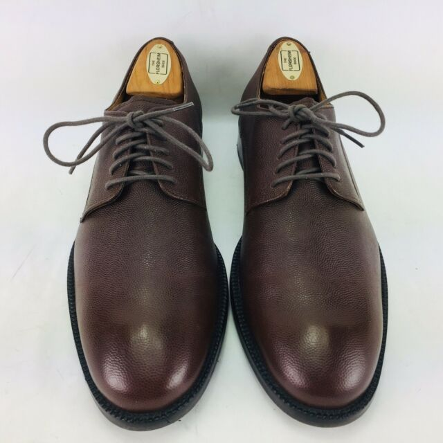 Cole Haan Men's Size 7 Medium Pebbled Brown Leather Lace up Derby Shoes