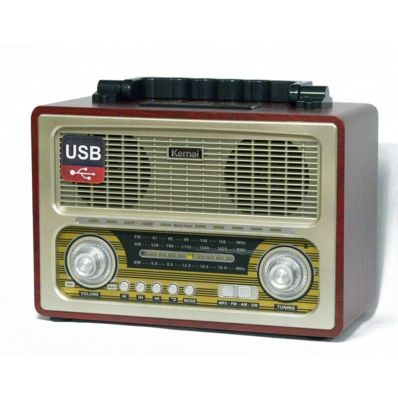 s l1600 - Radio altavoz portatil con Bluetooth USB SD/TF 220W O Pilas estilo retro