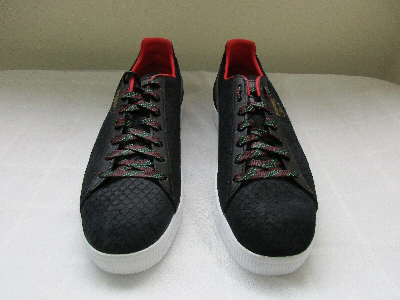 Nuevo Para Hombre Puma Clyde GCC Casuales Atléticas Tenis Zapatos 36263101 Negro Rojo DC W25