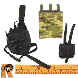 PMSCS in Syria - Leg & Misc. Pouch Set of 3 - 1/6 Scale - Damtoys Action Figures