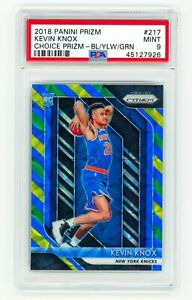 KEVIN-KNOX-2018-Panini-Prizm-217-CHOICE-Blue-Yellow-Green-PSA-9-MINT-ROOKIE-RC