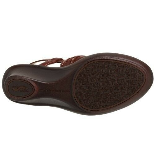 New  115 SoftWalk Padua braun braun braun Leather Sling Clogs Mules Heels Wedges schuhe W N f2741b