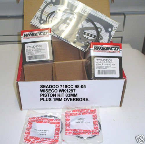 Wiseco - WK1297 - WK Top End Kit, 1 00mm Oversize to 83 00mm