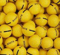 200 Yellow 1-piece Driving Range Golf Balls - Hit Away - Practice - Cheap