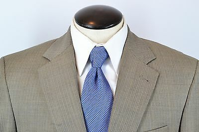 Jos A Bank Signature Collection Gordon Light Gray Pinstriped Wool Suit Sz 39R