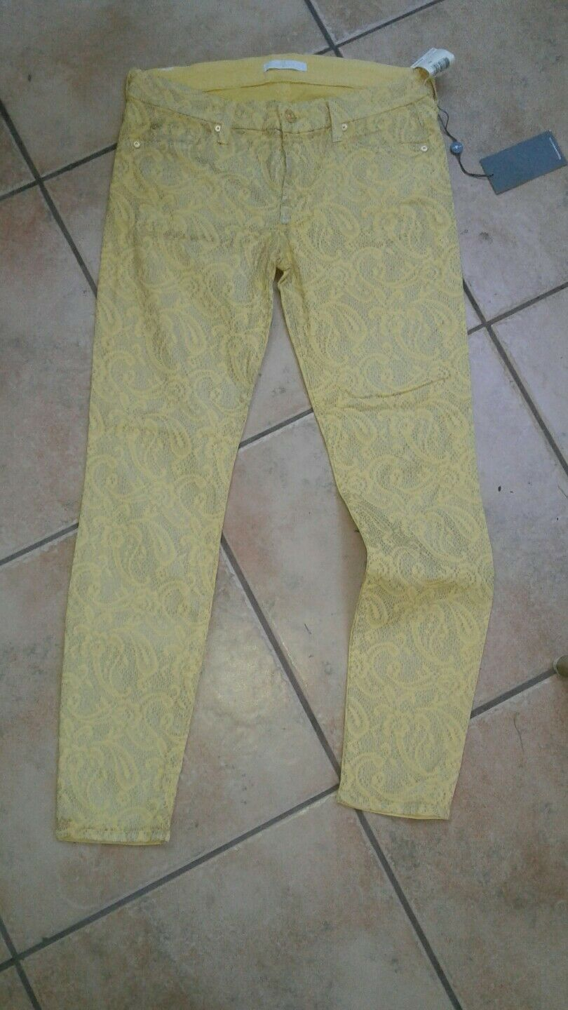 7 FOR ALL MANKING YELLOW JEANS