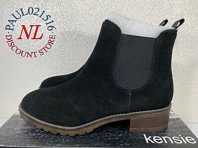 Kensie Ladies/' Ghita Ankle Boots Black Leather NWD