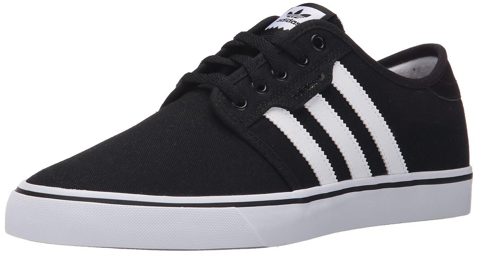 Adidas Seeley Schwarz / Weiß Skateboard Herrenschuhe F37427 Neue schnelle Lieferung