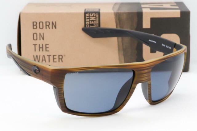 Costa Del Mar Fantail Matte Black Gray 580P Polarized Lens Sunglasses TF 11 OGP