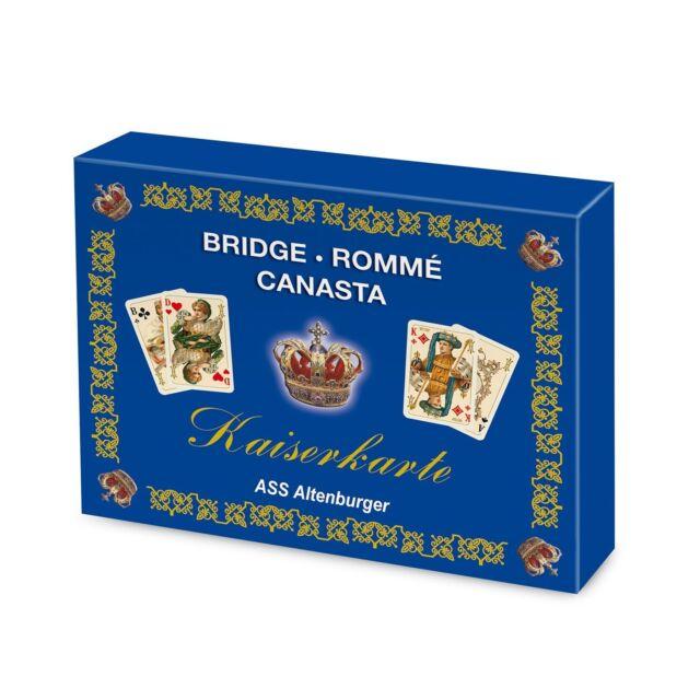 """ASS """"Kaiserkarte"""" - Romme - Bridge - Canasta"""