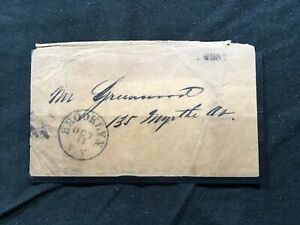 Stampless Cover 1840s? Brooklyn NY Ascc $5 but unknown cents