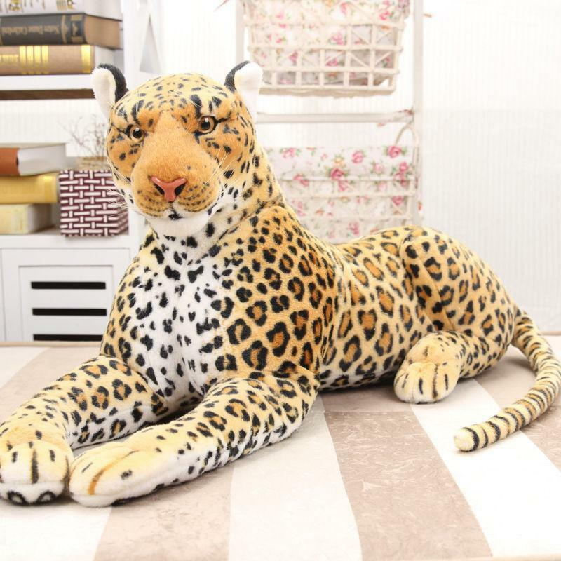 87CM Giant Leopard Plush Doll Soft Big Stuffed Animals Birthday Xmas Newest Gift