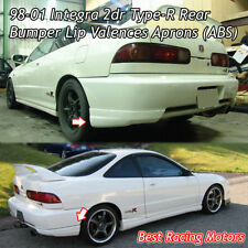 Type-R Style Rear Bumper Lip Aprons (ABS) Fits 98-01 Acura Integra 2dr