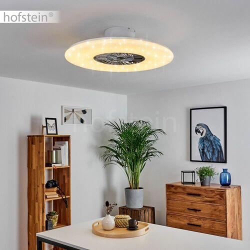 LED Luft Kühler weiß Wohn Schlaf Zimmer Leuchten Decken Ventilator Fernbedienung