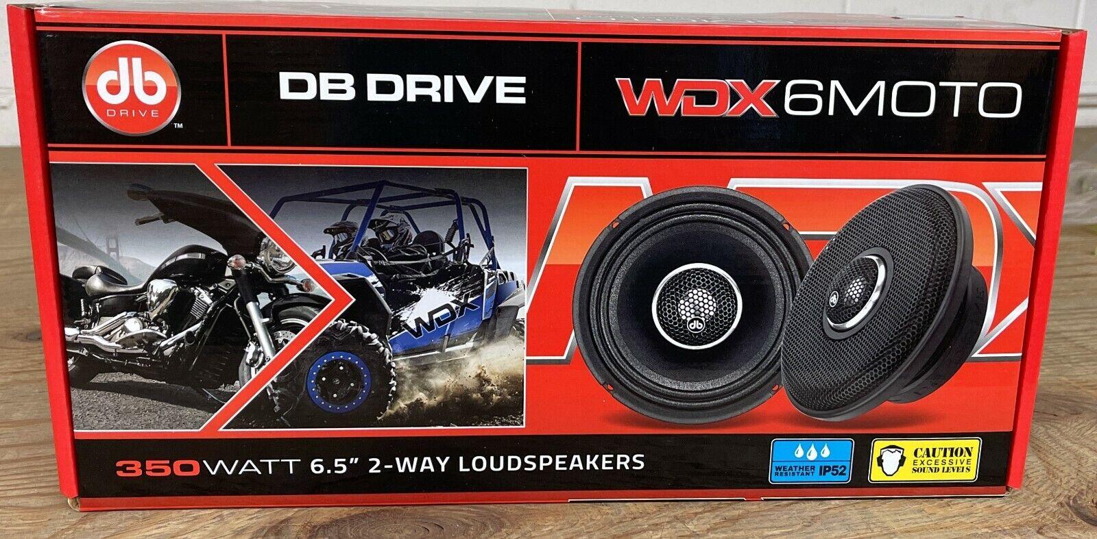 """Image 1 - DB Drive WDX6MOTO 6.5"""" 2Way 350 Watt Weather Resistant IP52 Coaxial Speakers NEW"""