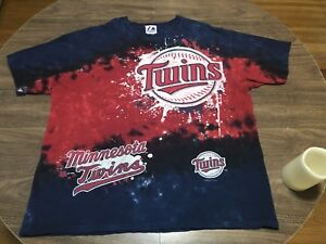 Minnesota-Twins-MLB-Baseball-Majestic-XL-Tie-Dye-T-Shirt