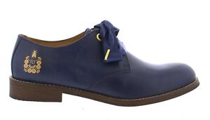 low priced fb2b8 d659f Details zu Fly London NEW Cristina Rodrigues Dwell 04 blue navy leather  oxford shoes 3-9