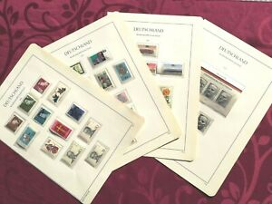WEST GERMANY 1975: 4 ALBUM PAGES MNH and MH 32 stamps+1 minisheet