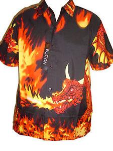 20e1b6749 Image is loading FIRE-DRAGON-FLAME-FLAMES-SHIRT-NEW-STYLE-kids-