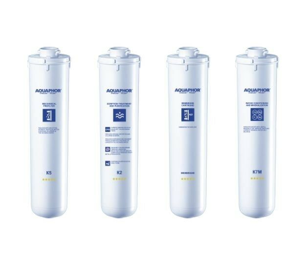 Aquaphor Morion- Set Of Filter Cartridges( 2x K5, 2x K2, 2x K7M, 1x RO Membrane)