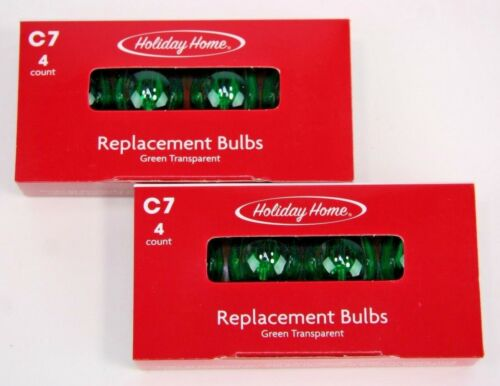 CHRISTMAS REPLACEMENT BULBS C7 CLEAR RED BLUE GREEN MULTI  Ceramic White 120V 5W