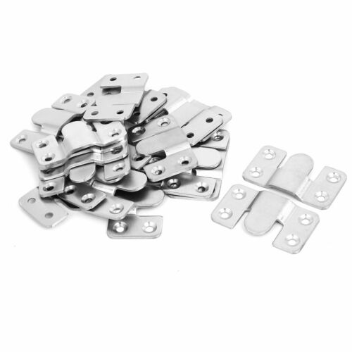Picture Frame Hanging Stainless Steel Four Holes Hanger Hooks 53x30x5mm 20pcs