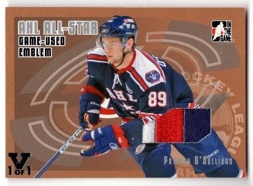 2006-07 ITG GAME USED EMBLEM PATRICK O' SULLIVAN PATCH VAULT 1/1 #AE-06
