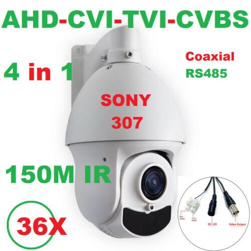 150M IR SONY307 36X Zoom 1080P AHD PTZ Speed Dome Camera Support CVI//TVI//CVBS DE