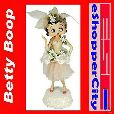 "Betty Boop 12/"" Ballerina  Win up Mechanical Music Doll Limited Box Resin Figure"